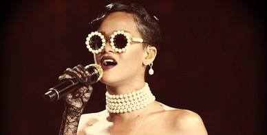 Rihanna Had A Haute Coutour Opera/ Bond Girl/ Modern Day Breakfast at Tiffany's Fashion Moment During The 2012 Victoria's Secret Fashion Show