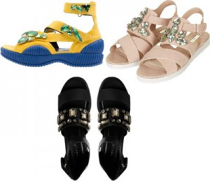 DIY: Sporty Bejeweled Sandals